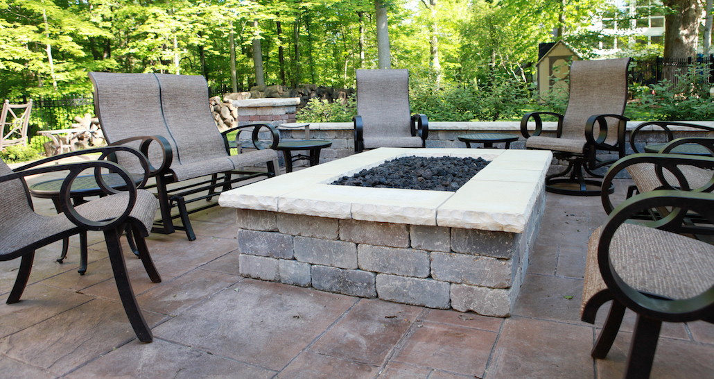 Custom Fire Pit | Hittle Landscaping