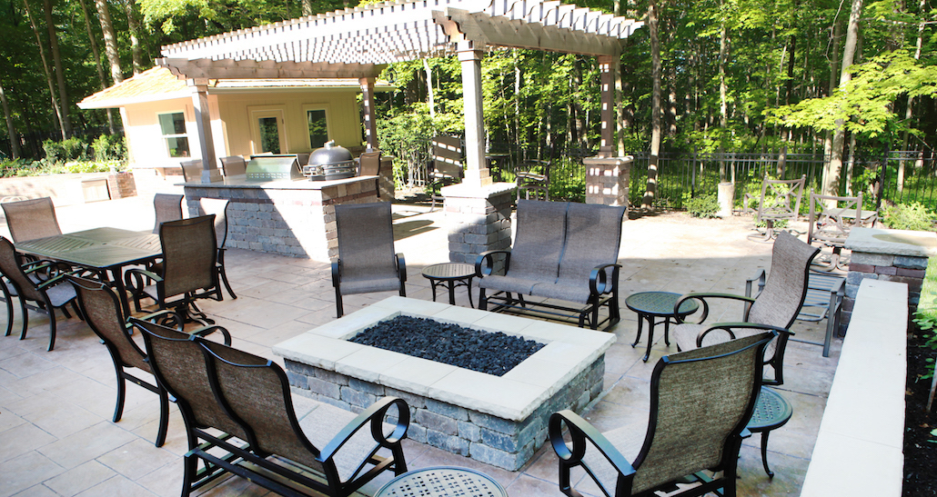 Custom Backyard Living Space | Hittle Landscape