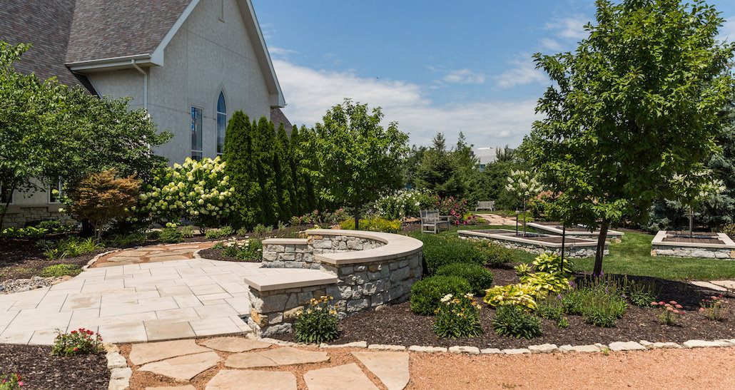 Custom stone walkway | Hittle Landscaping