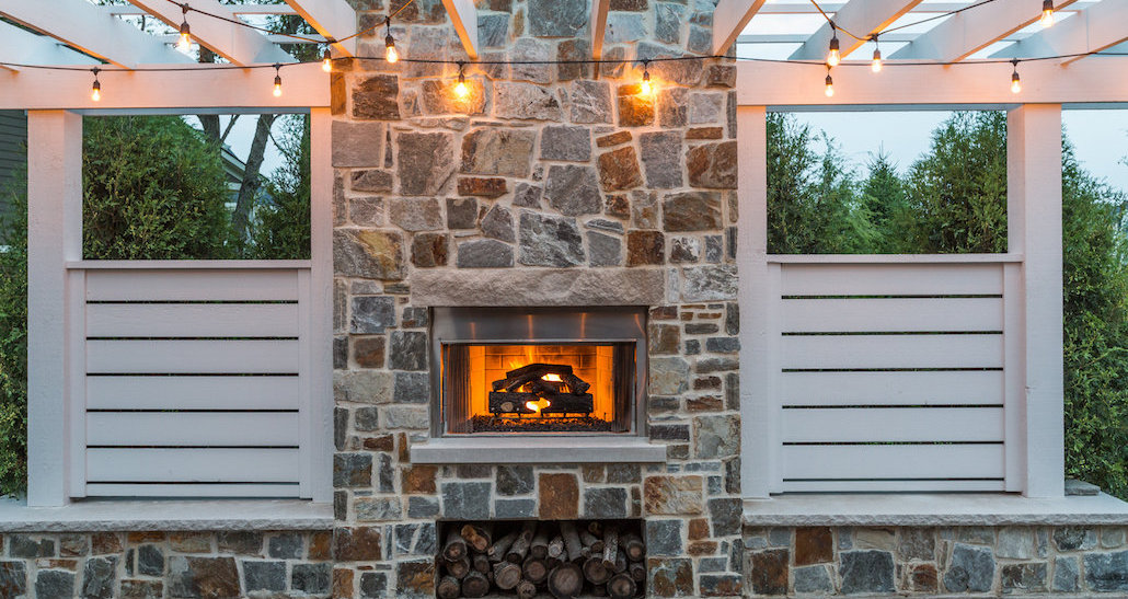 Outdoor Oasis with Fireplace | Hittle Landscaping