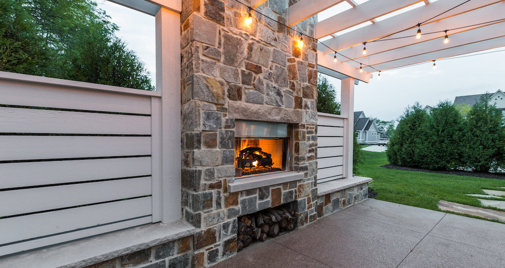 Outdoor Backyard Fireplace | Hittle Landscaping