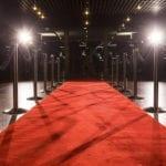 Red Carpet Entrance | Backyard Landscape Design for Viewing Parties | Hittle Landscaping