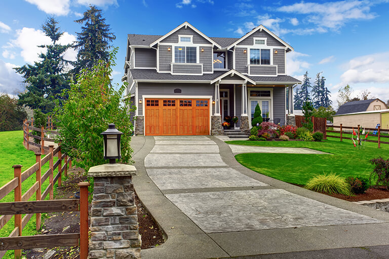 Gray Home with Curb Appeal | Curb Appeal Tips from a Landscape Designer | Hittle Landscaping