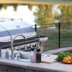 Outdoor high end kitchen | Hamilton County Landscape Design | Hittle Landscaping