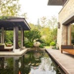 Backyard Koi Pond | New Home New Backyard Designs | Hittle Landscaping