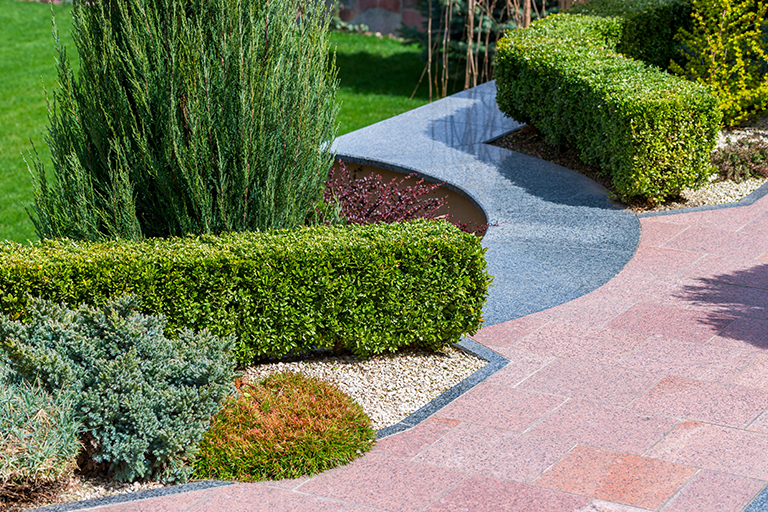 Mixture of hardscapes and softscapes | 4 Tips for Stylish Garden Landscape Design | Hittle Landscaping