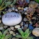 rock with relax text | Landscaping Ideas: Impact of Nature | Hittle Landscaping