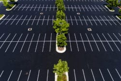 parking lot islands | Simple Landscape Ideas for Indy Parking Lots | Hittle Landscaping