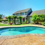 backyard suburban pool | Landscaping Ideas for Swimming Pools | Hittle Landscaping